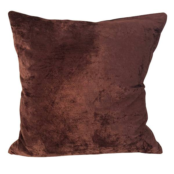 Cushion Cover Slub Velvet Deep Plum