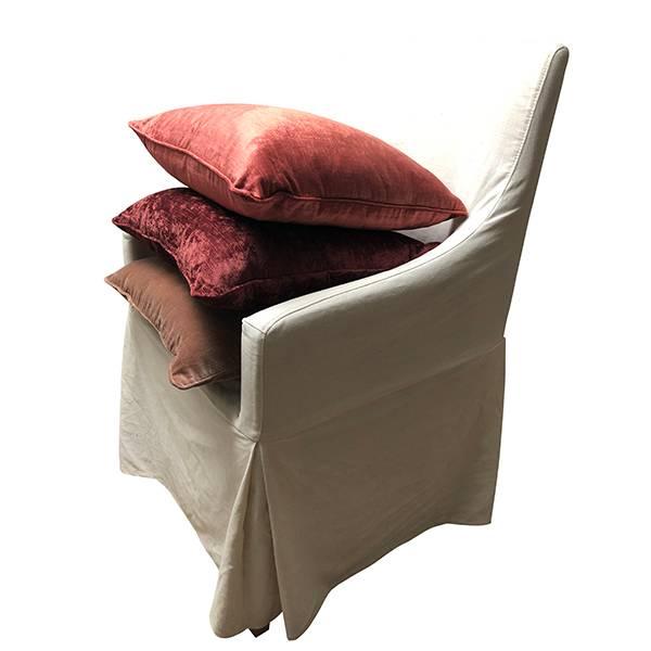 Cushion cover slub velvet Deco